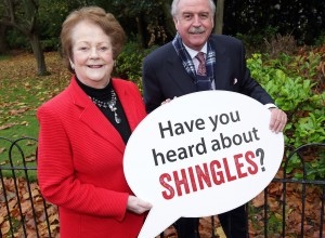 Mary O'Rourke and Marty Whelan officially launch Shingles Awareness campaign