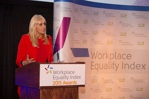 Miriam O'Callaghan at the Workplace Equality Index Awards
