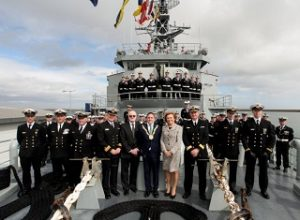 DunLaoghaire Awards Freedom of Entry to Irish Naval Service with Mary Kennedy